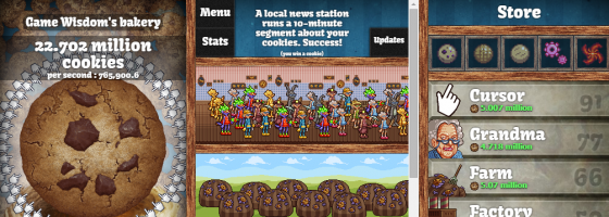 CookieClicker 560x200 Understanding Progression Models in Game Design