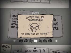Binding of Isaac Rebirth 2 300x225 Short vs. Long Term Progression in Game Design