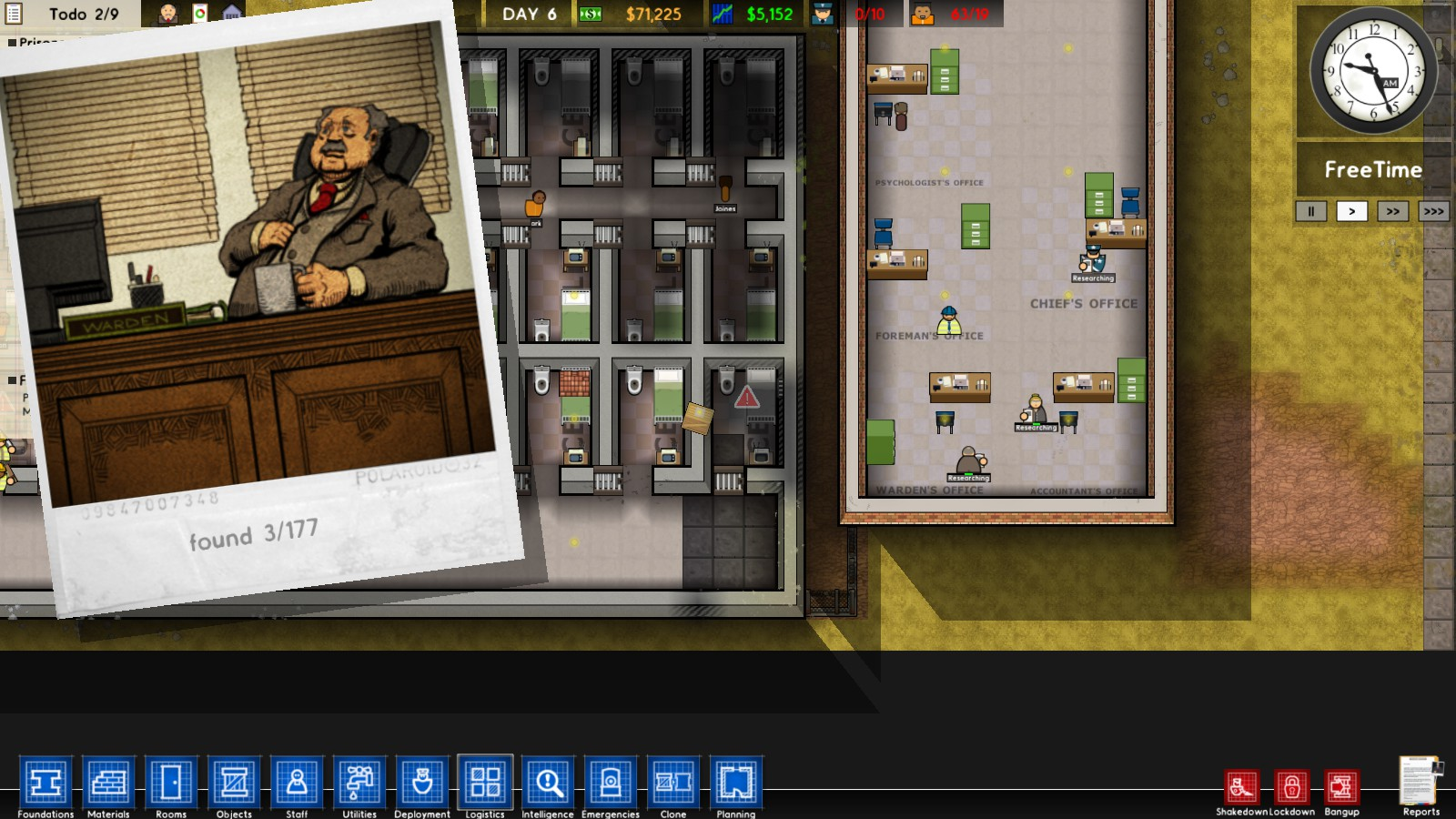 prison architect how to find snitches