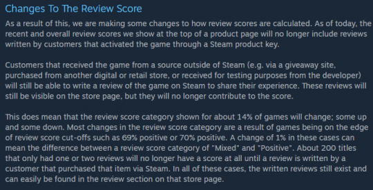 Steam Review Changes 540x276 How Steam Review Changes Perpetuate a Vicious Cycle